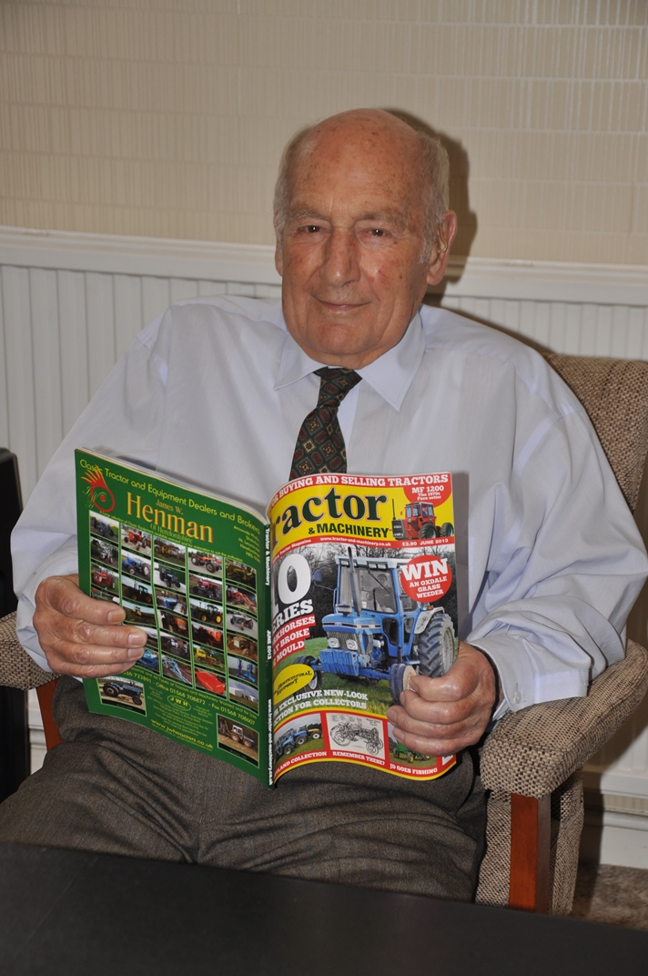 Alan Doe and tractor magazine