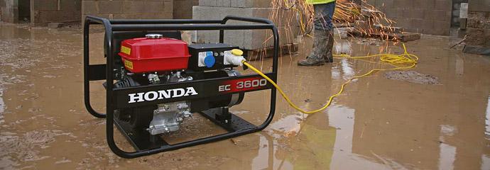 Honda generators and water pumps