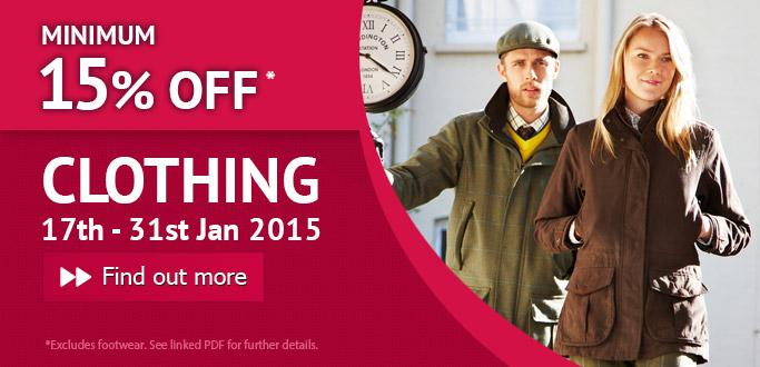 Clothing Sale - 17th - 31st Jan