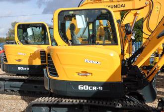 Mini and midi excavators - Hyundai - Construction